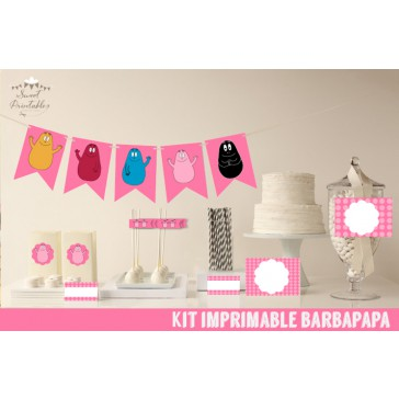 Kit de decoration imprimable Barbapapa