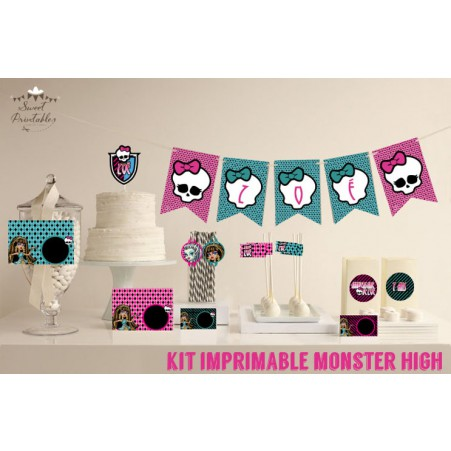 "Kit de décoration ""Monster High"""