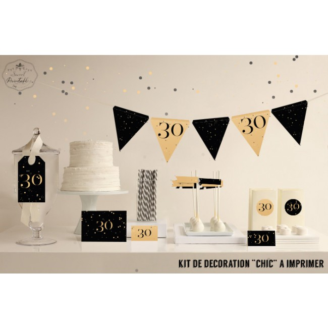 decoration anniversaire 30 ans a faire soi meme. Black Bedroom Furniture Sets. Home Design Ideas