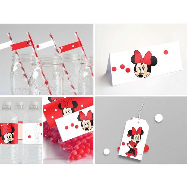 decoration anniversaire minnie rouge