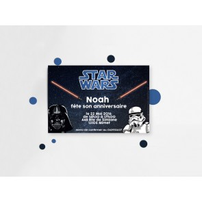 Invitation d'anniversaire  Star Wars