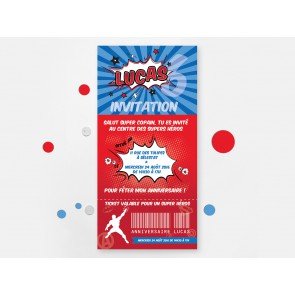 Invitation d'anniversaire Super Heros party
