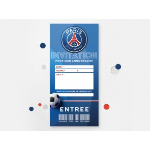Invitation d'anniversaire Football PSG, Marseille…