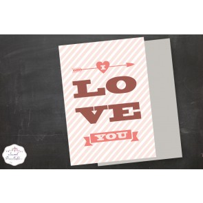 Carte I Love You a imprimer soi-même